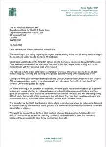 Letter to Matt Hancock