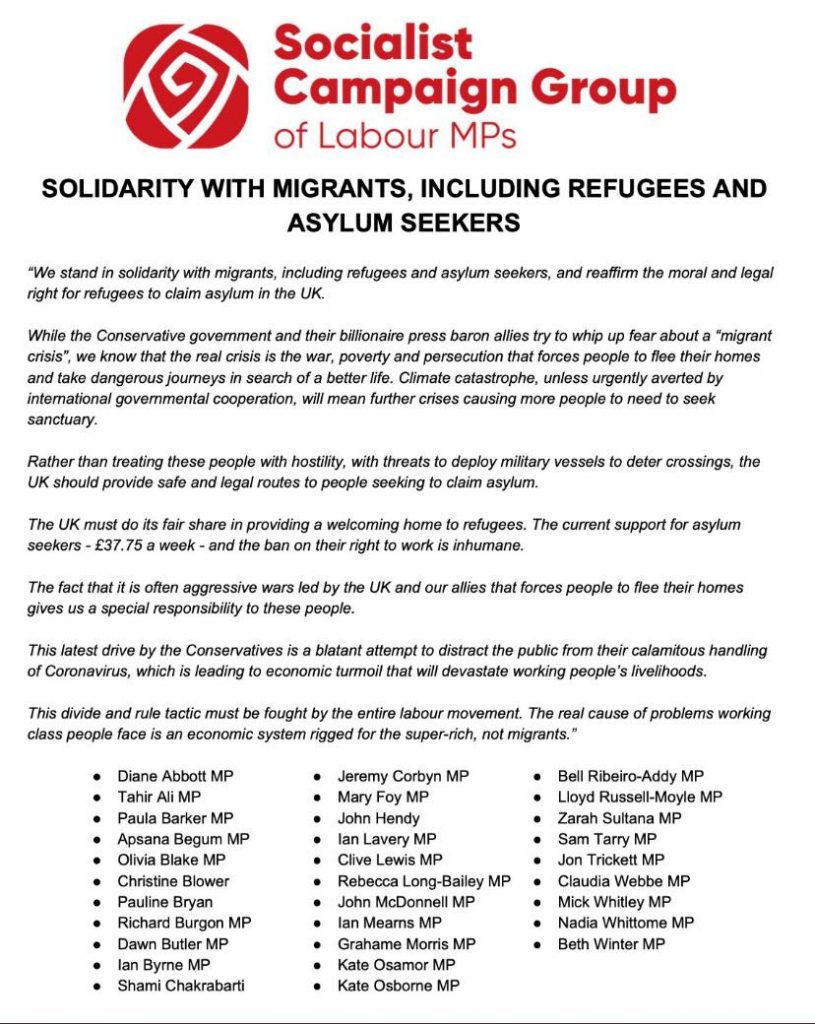 solidarity with migrants letter